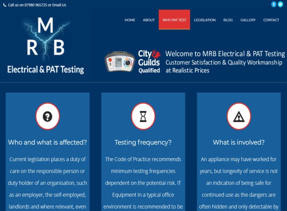 MRB PAT Testing