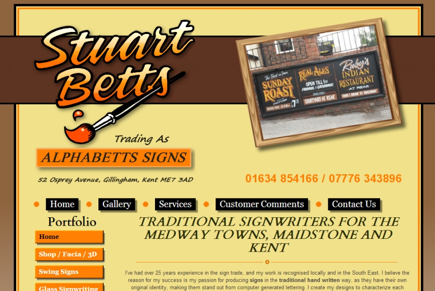 Stuart Betts Traditional Signwriter